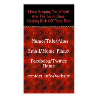 The Real Conspiracy Business Card