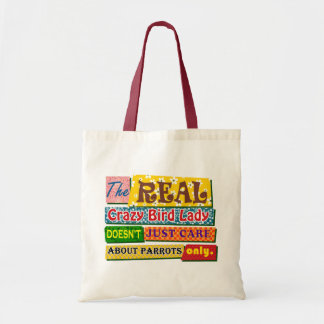 The real crazy bird lady tote bag