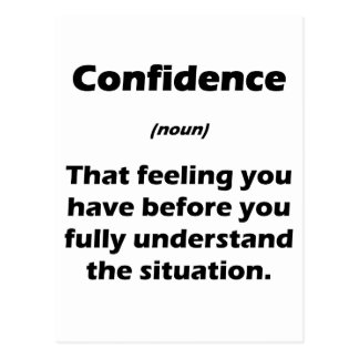 The Real Definition of Confidence Postcards