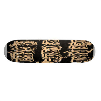 The Real Enemy Is Greed Skateboard