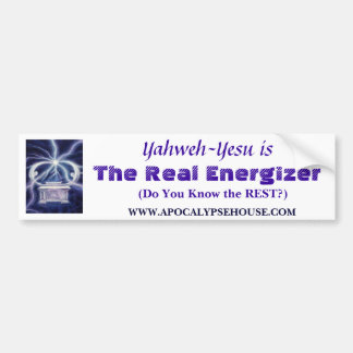 The Real Energizer, Yahweh-Yesu Bumper Sticker