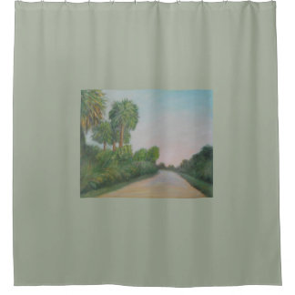 THE REAL FLORIDA- OLD A1A Shower Curtain