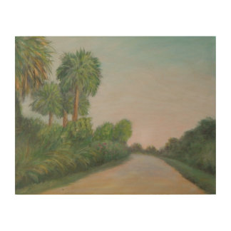 THE REAL FLORIDA-OLD A1A Wood Wall Art
