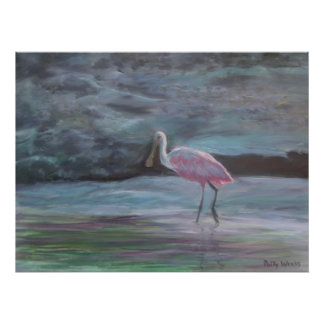 THE REAL FLORIDA-ROSEATE SPOONBILL Poster