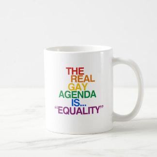 THE REAL GAY AGENDA COFFEE MUG