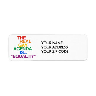 THE REAL GAY AGENDA LABEL