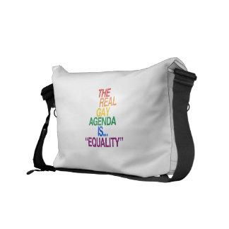 THE REAL GAY AGENDA MESSENGER BAG