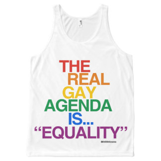 THE REAL GAY AGENDA Politiclothes Humor -.png All-Over Print Tank Top