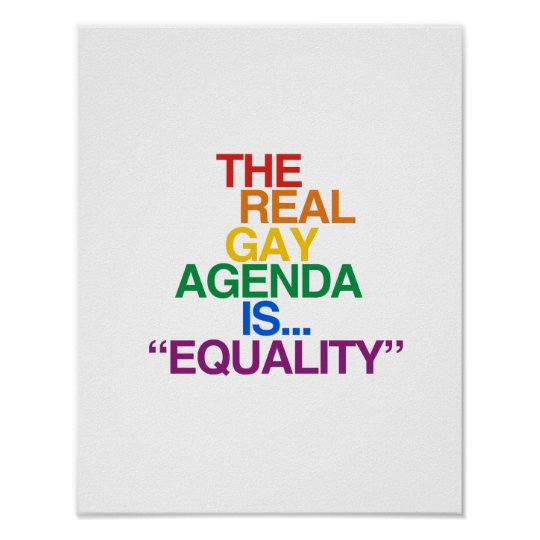 THE REAL GAY AGENDA POSTER