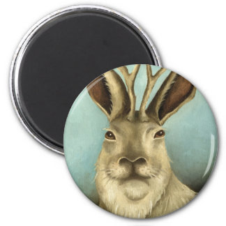 The Real Jackalope 2 Inch Round Magnet