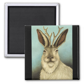 The Real Jackalope 2 Inch Square Magnet