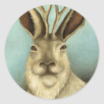 The Real Jackalope Round Stickers