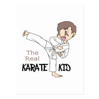 THE REAL KARATE KID POSTCARD