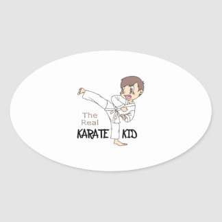 THE REAL KARATE KID OVAL STICKERS