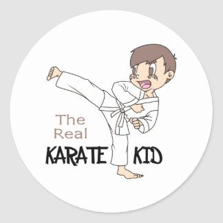 THE REAL KARATE KID ROUND STICKERS