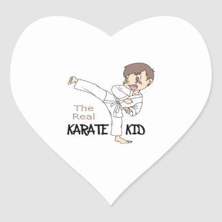THE REAL KARATE KID HEART STICKER