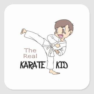 THE REAL KARATE KID SQUARE STICKER