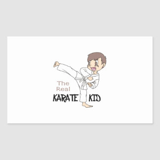 THE REAL KARATE KID RECTANGLE STICKER