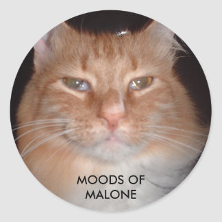 The Real Malone - MOODS OF MALONE Classic Round Sticker