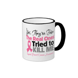 The Real Ones Tried to Kill Me - Breast Cancer Ringer Mug