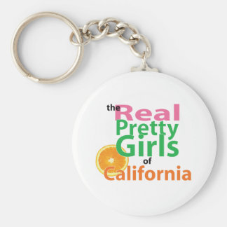 the real PRETTY GIRLS of California Basic Round Button Keychain