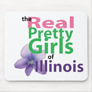 the real PRETTY GIRLS of Illinois Mouse Pad