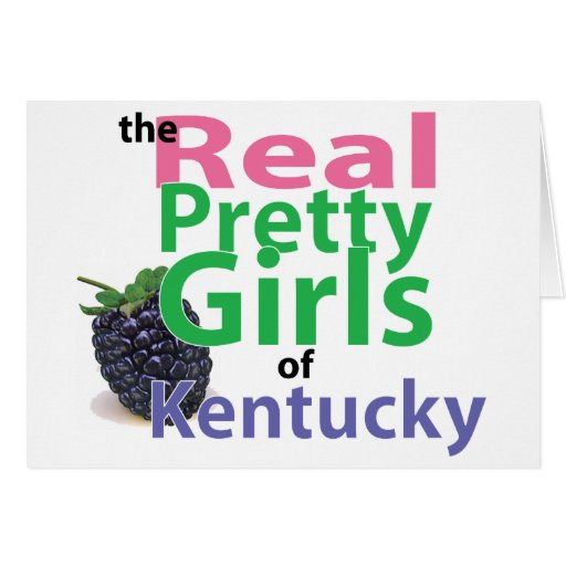 the real PRETTY GIRLS of Kentucky Greeting Card
