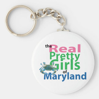 The Real Pretty Girls of Maryland Basic Round Button Keychain