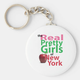 the real PRETTY GIRLS of New York Basic Round Button Keychain