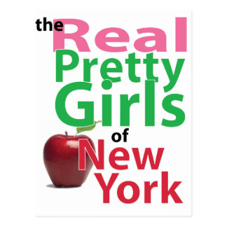 the real PRETTY GIRLS of New York Postcard