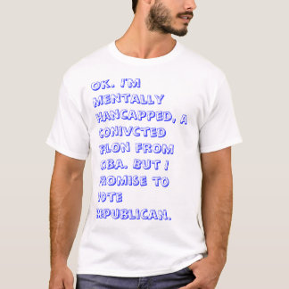 The REAL qualifications for voting. T-Shirt