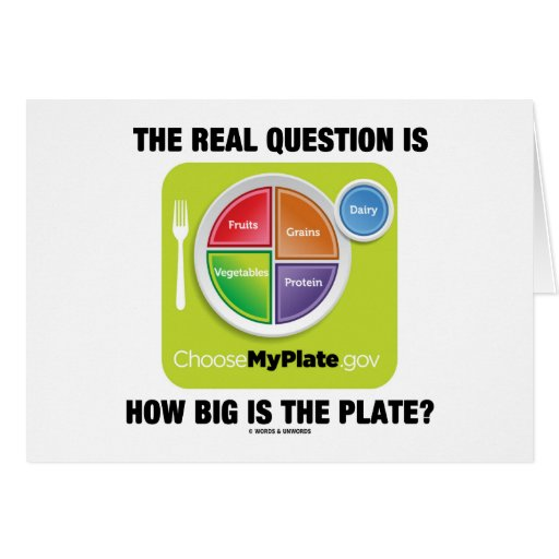 The Real Question Is How Big Is The Plate? Greeting Card