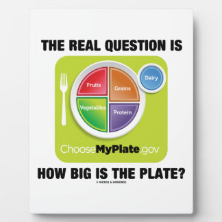 The Real Question Is How Big Is The Plate? Plaque