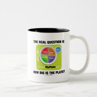The Real Question Is How Big Is The Plate? Two-Tone Coffee Mug