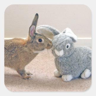 The Real Rabbit Square Sticker