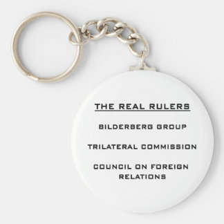 The Real Rulers Basic Round Button Keychain