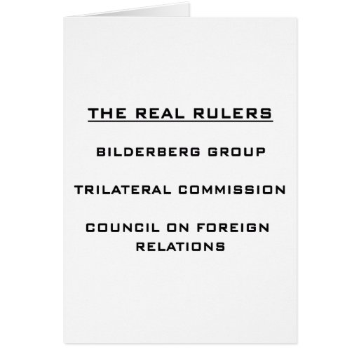 The Real Rulers Card