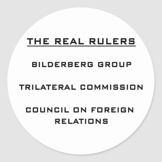 The Real Rulers Classic Round Sticker