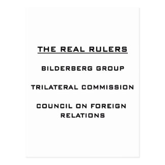 The Real Rulers Postcard