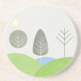 The Real Seasons - Winter Sandstone Coaster