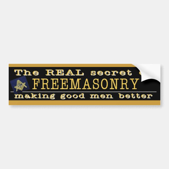 The REAL Secret Masonic Bumper Sticker