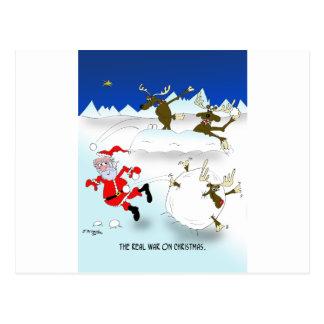 The Real War on Christmas Postcard