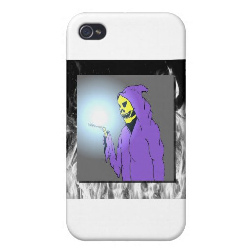 The Reaper and Flames Case For iPhone 4