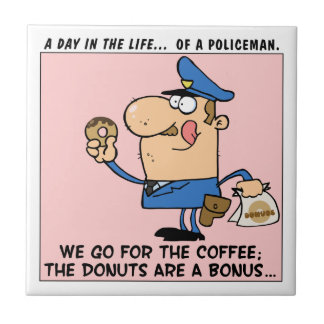 The reason cops go to donut shops tile