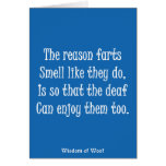 The Reason Farts Smell Like They Do Greeting Card