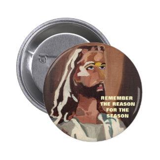 THE REASON FOR THE SEASON, JESUS button