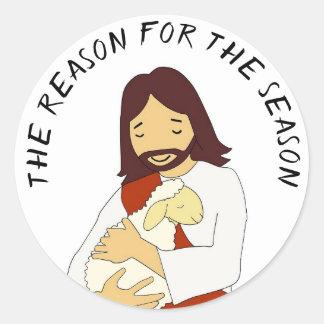 The Reason for the Season Jesus Christmas Stickers