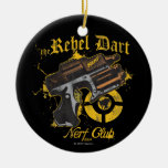 The Rebel Dart Nerf Club Double-Sided Ceramic Round Christmas Ornament