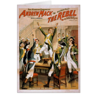 The Rebel For freedom and ireland Retro Theater Greeting Card
