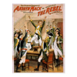 The Rebel, 'For freedom and ireland' Retro Theater Post Card